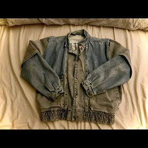 Vintage Guess George Marciano Denim Bomber Jacket